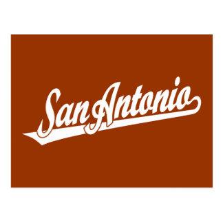 Cartão Postal Logotipo do roteiro de San Antonio no branco