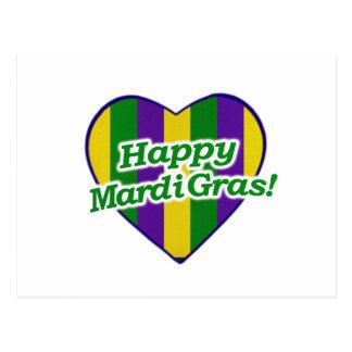Cartão Postal Logotipo feliz do carnaval