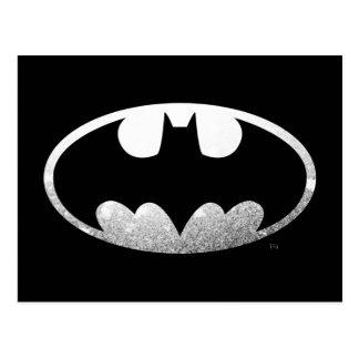 Cartão Postal Logotipo granulado do símbolo   de Batman