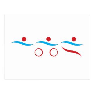 Cartão Postal Logotipo legal moderno do Triathlon