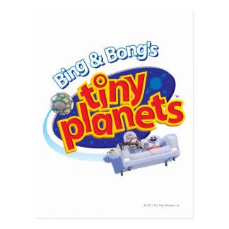 Cartão Postal Logotipo minúsculo dos planetas