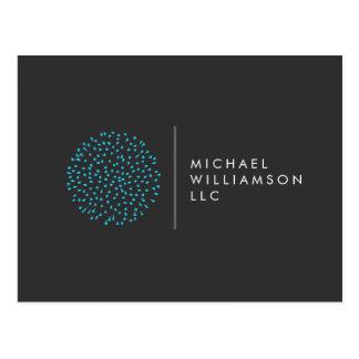 Cartão Postal Logotipo moderno profissional do azul dos pontos