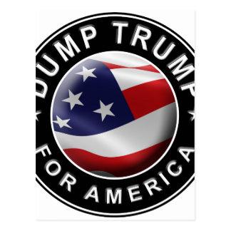 Cartão Postal Logotipo oficial de DumpTrumpforAmerica
