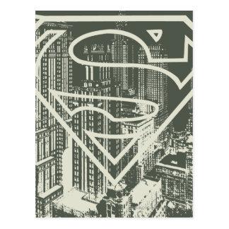 Cartão Postal Logotipo | verde estilizado da metrópole do