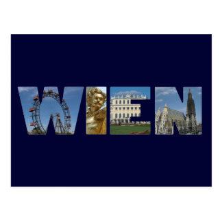 Cartão Postal Logotipo Viena Áustria de Wien