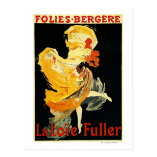 Cartão Postal Loie mais completo no teatro de Folies-Bergere