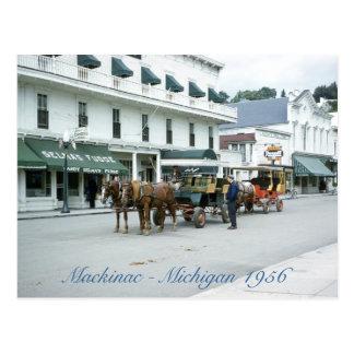 Cartão Postal Loja 1956 do Fudge de Michigan da ilha de Mackinac