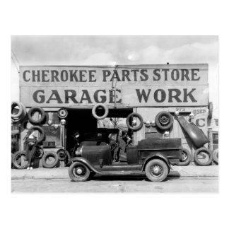 Cartão Postal Loja Cherokee das peças, 1936