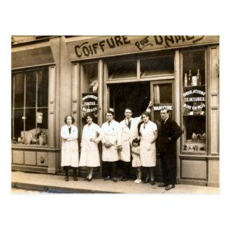 Cartão Postal Loja do cabeleireiro, 1930