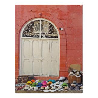 Cartão Postal Loja do chapéu do passeio - Cartagena Colômbia