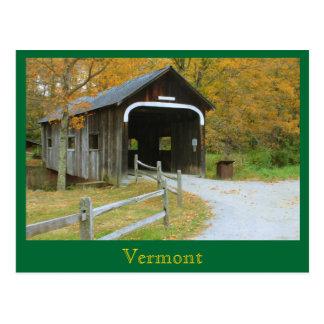 Cartão Postal Loja VE do queijo de Grafton da ponte coberta de
