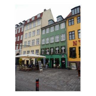 Cartão Postal Lojas & restaurantes, Nyhaven, Copenhaga Dinamarca