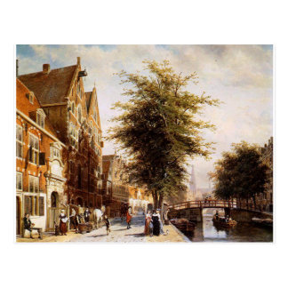 Cartão Postal Lombard Voorburgwal Amsterdão por Cornelis