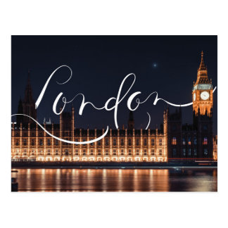 Cartão Postal Londres/cartão caligrafia de Big Ben
