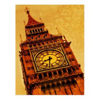 Cartão Postal Londres, grunge de Big Ben