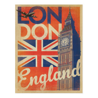 Cartão Postal Londres, Inglaterra - bandeira