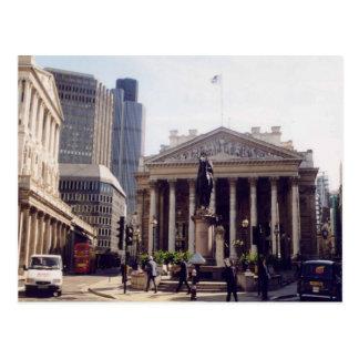 Cartão Postal Londres, troca real e o Banco da Inglaterra