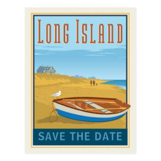 Cartão Postal Long Island, economias de New York   a data