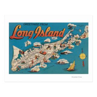 Cartão Postal Long Island, New York - cumprimentos de