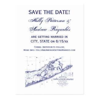 Cartão Postal Long Island o mapa VC de Hamptons