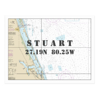 Cartão Postal Longitude náutica da latitude da carta de Stuart