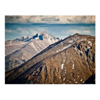Cartão Postal Longs o parque nacional de montanha máxima,