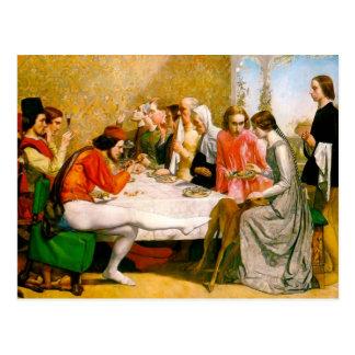 Cartão Postal Lorenzo e Isabella por John Everett Millais