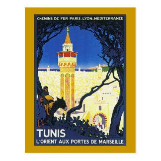 Cartão Postal ~ L'Orient Portes auxiliar de Marselha de Tunes