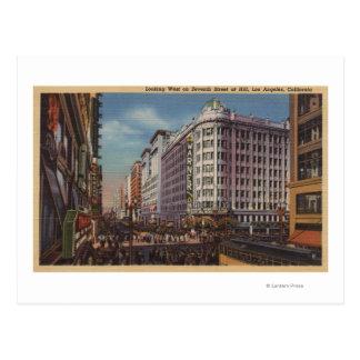 Cartão Postal Los Angeles, CAView de Warner Bros. no 7o St.