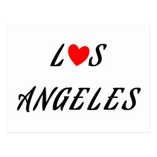 Cartão Postal Los Angeles coração vermelho
