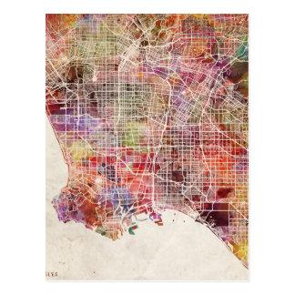 Cartão Postal Los Angeles map