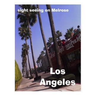 Cartão Postal Los Angeles, vista que vê na melrose