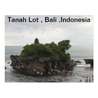 Cartão Postal Lote de Tanah, Bali, Indonésia