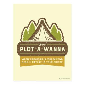 Cartão Postal Lote-Um-Wanna do acampamento