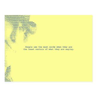 Cartão Postal Lotes das palavras…