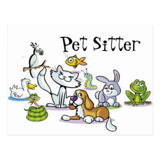 Cartão Postal Lotes dos animais de estimação