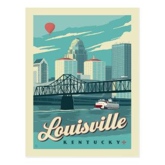 Cartão Postal Louisville, economias de Kenucky   a data