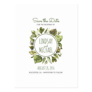 Cartão Postal Louro da aguarela - as hortaliças envolvem