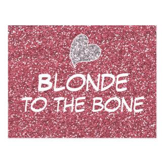 Cartão Postal Louro engraçado às citações do osso