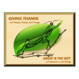 Cartão Postal Louva-a-deus Praying que dá obrigados