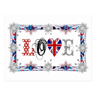 Cartão Postal Love UK, Inglaterra/