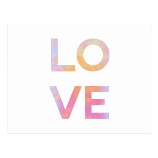 Cartão Postal Love, watercolor