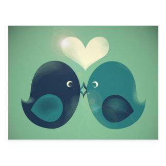 Cartão Postal Lovebirds