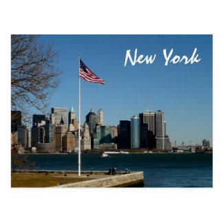 Cartão Postal Lower Manhattan do Ellis Island