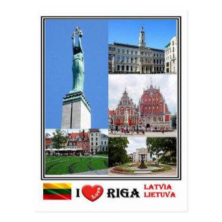 Cartão Postal LT Latvia Lietuva - Riga -