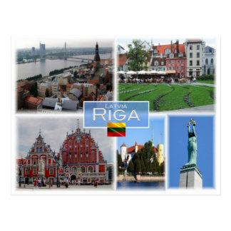 Cartão Postal LT Lithuania - Riga Latvia Lietuva -