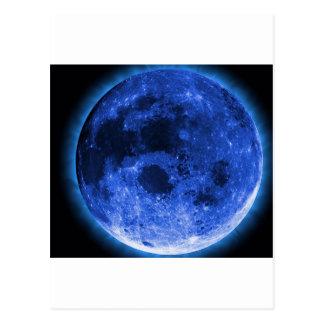 Cartão Postal lua azul