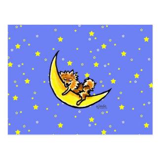Cartão Postal Lua de Pomeranian