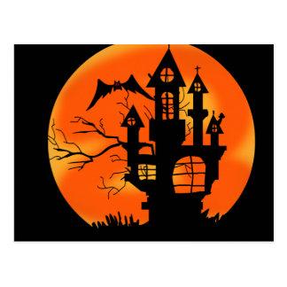 Cartão Postal Lua do Dia das Bruxas