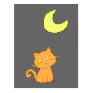 Cartão Postal Lua do gato
